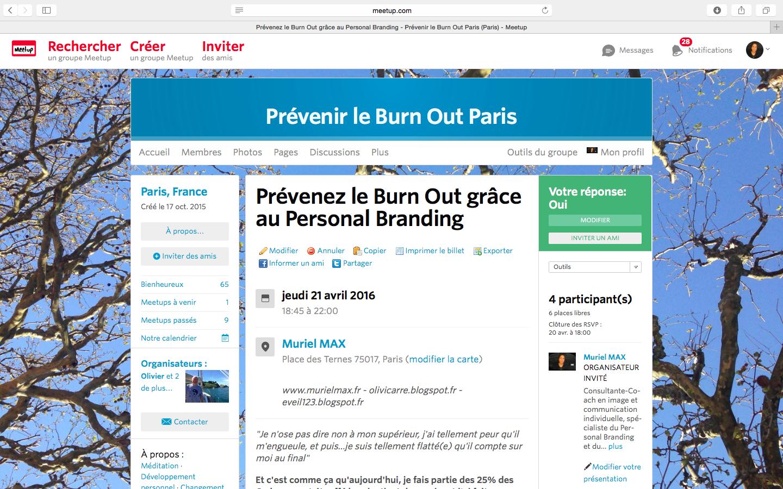 Prendre soin de son image et de son discours pour empêcher le Burn Out -  inscription sur :  http://www.meetup.com/fr-FR/Prevenir-le-Burn-Out-Paris/events/230316090/
